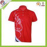 Chemise de polo unisexe d'Humidité-Wicking de sublimation respirable de vêtements de sport