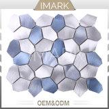 mattonelle blu della parete del soffitto del mosaico del metallo della miscela dell'argento del cubo dell'acqua di effetto 3D