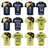L'Amérique ensembles Soccer Jersey jaune d'accueil à l'écart Mexique maillot de football club P. Aguilar