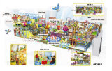 Cheer divertimenti Cartoon Village a tema al coperto Playground Equipment for Kids Toy