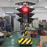 ポータブル300mmのトロリー太陽警告の交通信号ライト