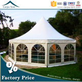 PVC Canvas Multi-Sided Event Tent de Resistant 6m Diameter White da chuva