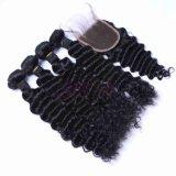 L'Eau Vierge indien d'onde de la trame couleur naturelle des cheveux humains