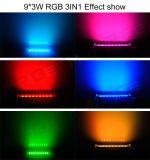 9 LED 3W RGB 3in1 Waterproof Outdoor LED Wall Washer