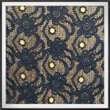 Laço poli da guipura da tela do laço do bordado
