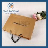 Романтичный пурпуровый мешок Kraft бумажный с веревочкой PP (DM-GPBB-041)