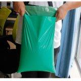 Annonce de empaquetage verte de courier de sac d'enveloppe opaque faite sur commande poly