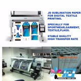 Papel pegajoso elevado Rolls do Sublimation do tipo 120GSM de Jd