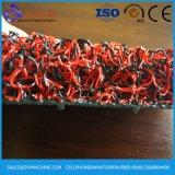 De rode Lopende band van de Mat van de Rol van pvc van de Kleur van de Mengeling Zwarte Dubbele