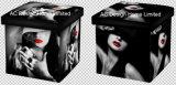 섹시한 소녀 디자인 사각 입방체 PU 가죽 및 나무로 되는 접히는 저장 시트 오토만 발판