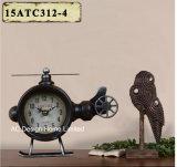 Vintage украшения старинных деревенских вертолета металлические формы стола часы