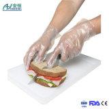 Alimento descartável que entrega luvas plásticas/luvas do agregado familiar Gloves/HDPE