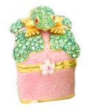 Coffret à bijoux en alliage, décoration boîte à bijoux (211)