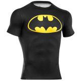 短い堅の袖の圧縮のワイシャツの上の顧客用タンクトップ