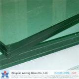 verre feuilleté de flotteur clair de 3mm+0.38PVB+3mm à de 19mm+3.04PVB+19mm