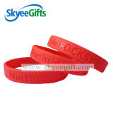Geprägte Wristbands-Silikon-Armband-Segment-Armbänder