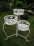 Pflanzer-Halter des heißer Verkaufs-umweltfreundlicher neuester weißer reizender dekorativer stehender Form-Blumen-Potenziometer-3-Tier (PL08-5142)