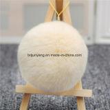 毛皮のPomponのKeychain袋のハング