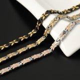 Señora Pulsera de la más nueva manera del diseño con la plata y el oro plateados