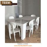 Alta Tabella pranzante allungabile bianca lucida moderna