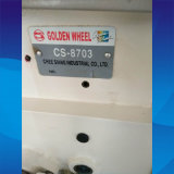 Máquina de coser usada de la rueda de la sola Cilindro-Base de oro de la aguja (CS-8703)