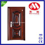 Etrance classique porte métallique pour la maison, entrée de porte en acier de style