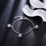 Braccialetto d'argento 2017 del braccialetto 925silver di fascino del braccialetto delle piccole donne Pendant della sfera di Hotsale