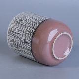 Runder Handpainting Kerze-Halter mit Baum-Muster