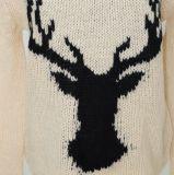Prenda de Natal da Camisola Ladeis em Jacquard Design e Qualidade de Lã Acrílica Soft Handfeel