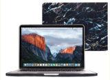 完全なボディ保護白い大理石の印刷のApple MacBookプロ15保護黒い大理石パターンコンピュータのための堅いラップトップの袖の箱カバー