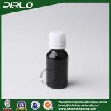 botellas de cristal negras del petróleo esencial 15ml con el tapón de tuerca blanco