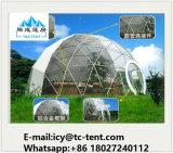 Tienda geodésica de la tienda de la bóveda de la media esfera de Diameter5-30m con la tela del PVC