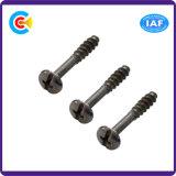 Steel/4.8/8.8/10.9 편평한 테일 또는 수축 바 필립스 또는 교차하는 팬 헤드 인치 Self-Tapping 나사