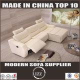 2017ホーム家具現代L形の革リクライニングチェアのソファ