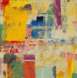 Het kleurrijke Katoenen van Abastract Graffiti Olieverfschilderij van het Canvas
