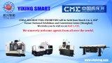 エンジンの旋盤の海外エンジニア上海Yixingの工作機械の旋盤のツールによる使用できるCNCの旋盤機械価格二重スピンドル