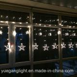 Luz por atacado clara em mudança da cortina da cortina da cor do diodo emissor de luz da boa qualidade 2017 com as 12 estrelas de Yuegang