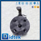 Robinet à tournant sphérique dur de flottement de joint de corps en deux pièces de fractionnement de Didtek pour la production de pétrole et de gaz