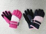 Luvas do esqui das meninas com correia