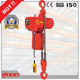 Sollevamento della strumentazione, tipo di Kito, gru Chain elettrica di velocità doppia di 5 tonnellate con l'amo