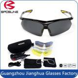Material flexível sem rebordo revestimento multicamada óculos de desportos de bicicleta por grosso