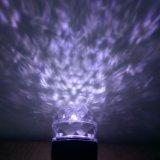 [لد] بيضاء [رغب] مشكال حركة لهب ماء موجة مصباح كشّاف مسلاط