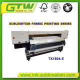 Oric Large-Format tx1804-E Impresora de inyección de tinta con cuatro Dx-5 el cabezal de impresión