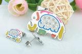 Reeks van de Juwelen van het Roestvrij staal van de Manier van de Juwelen van de douane de Mooie Olifant Gestalte gegeven