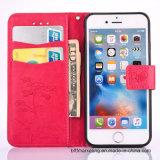 Het in reliëf gemaakte Nieuwe Geval van de Telefoon van de Cel van de Portefeuille van het Leer Mobiele voor iPhone 8/8plus