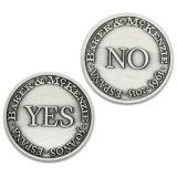 Vecchia moneta antica dell'argento 3D per il ricordo