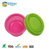 BPA Free Flexible Travelling Colorido lavável conjunto do copo de silicone dobrável
