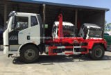 FAW 4X2 15 tonnellate di amo di rullo del braccio fuori dal camion con la strumentazione della compressa dell'immondizia