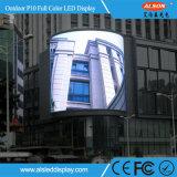 Tela fixa ao ar livre do painel do diodo emissor de luz da cor cheia de P10 RGB para a propaganda