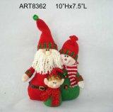 """10 """" Hx7.5 """" L regalo della decorazione di natale della famiglia di Santa+Snowman"""